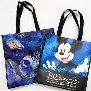 2 Disney D23 Expo reusable tote bags